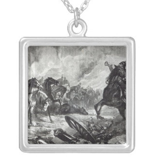 The horses of Gravelotte Silver Plated Necklace