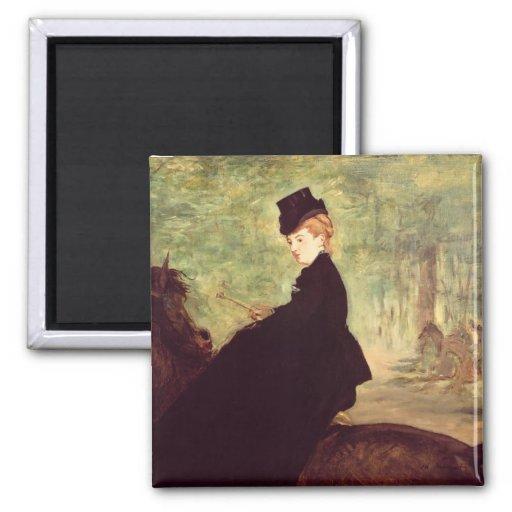 The Horsewoman, 1875 Fridge Magnet