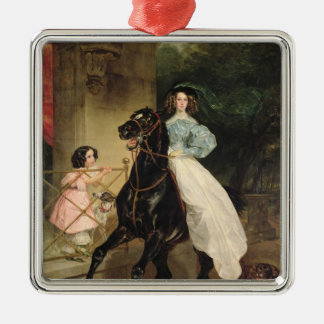 The Horsewoman, Portrait of Giovanina Christmas Ornament