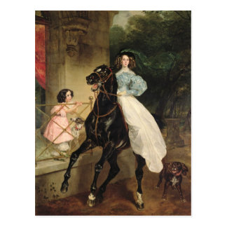 The Horsewoman Portrait of Giovanina Post Cards