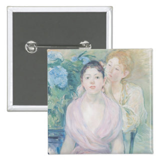 The Hortensia, or The Two Sisters, 1894 15 Cm Square Badge