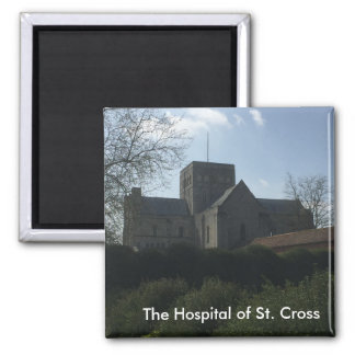 The Hospital of St. Cross - Winchester, England Square Magnet