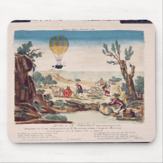 The Hot-Air Balloon of Jean Pierre Blanchard Mouse Mat