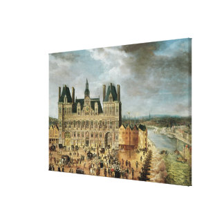 The Hotel de Ville, Place de Greve Canvas Print