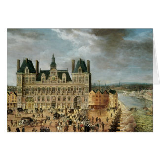 The Hotel de Ville, Place de Greve Card
