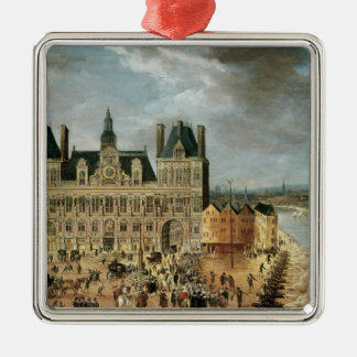 The Hotel de Ville, Place de Greve Christmas Ornament