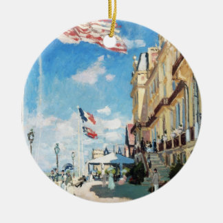The Hotel of Roches Noires, Trouville Monet Claude Double-Sided Ceramic Round Christmas Ornament