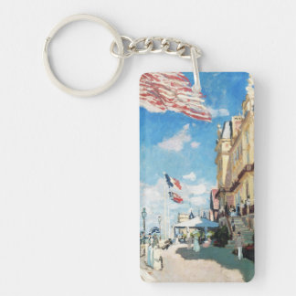 The Hotel of Roches Noires, Trouville Monet Claude Double-Sided Rectangular Acrylic Key Ring
