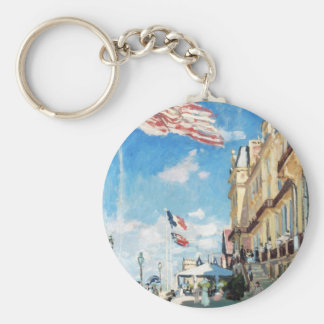 The Hotel of Roches Noires, Trouville Monet Claude Key Chain