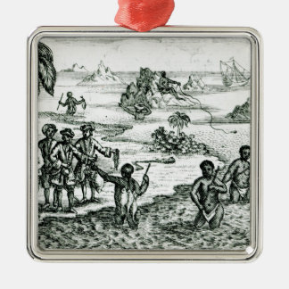 The Hottentot Manner of Fishing Christmas Ornament