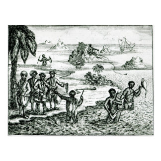 The Hottentot Manner of Fishing Postcard