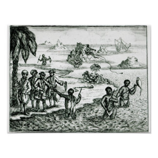 The Hottentot Manner of Fishing Poster