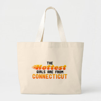 The hottest girls are from Connecticut Canvas Bags