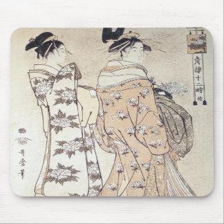 The Hour of the Monkey, Utamaro, 1780 Mousepad