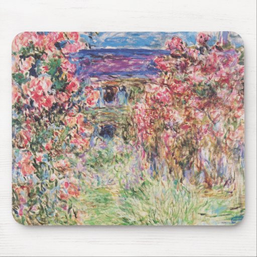 The House among the Roses by Claude Monet Mouse Pad