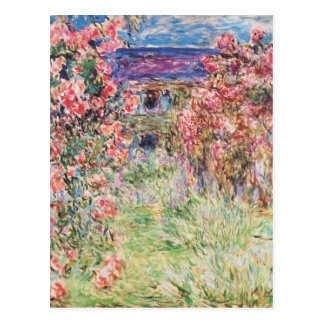 The House among the Roses by Claude Monet Postcard
