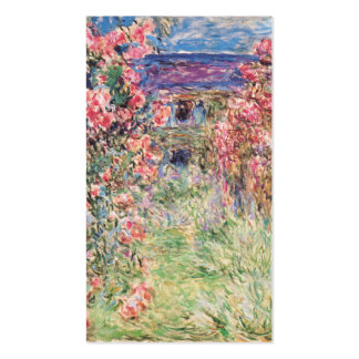 The House among the Roses, Claude Monet Business Card Template