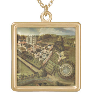 The House and Garden of Llanerch Hall, Denbighshir Gold Plated Necklace