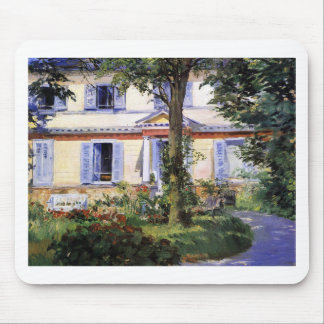 The House at Rueil by Edouard Manet Mouse Pad