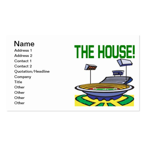 The House Business Card Templates
