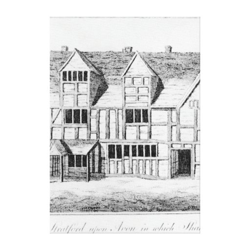 The House in Stratford-upon-Avon Gallery Wrapped Canvas