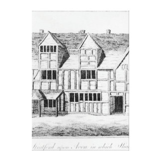 The House in Stratford-upon-Avon Canvas Print
