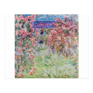 The house in the rose garden by Claude Monet, Postcard
