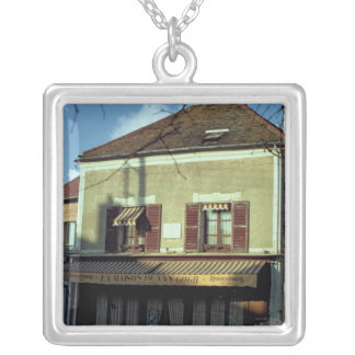 The house in which Vincent van Gogh Silver Plated Necklace