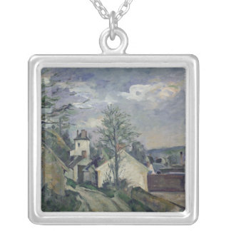 The House of Doctor Gachet  at Auvers, 1872-73 Silver Plated Necklace