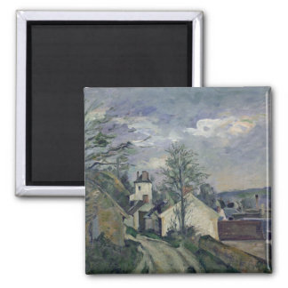The House of Doctor Gachet  at Auvers, 1872-73 Square Magnet