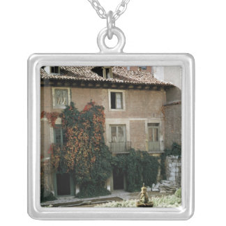 The house of Miguel Cervantes Silver Plated Necklace
