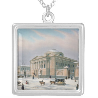 The House of the Tutorial Council in Moscow Square Pendant Necklace