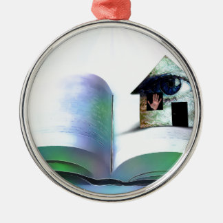 The house with an eye in open book