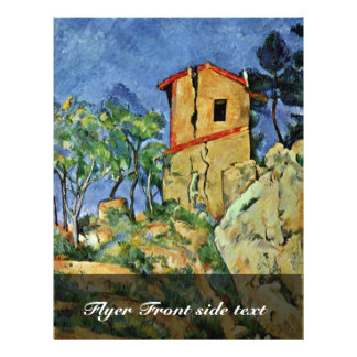 The House With Cracked Walls By Paul Cézanne Flyer Design