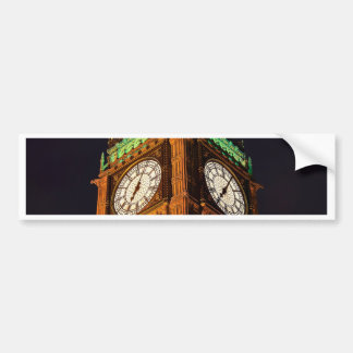 The Houses of Parliament clock tower, Westminster Bumper Sticker
