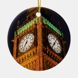 The Houses of Parliament clock tower, Westminster Christmas Ornament