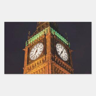 The Houses of Parliament clock tower, Westminster Rectangular Sticker