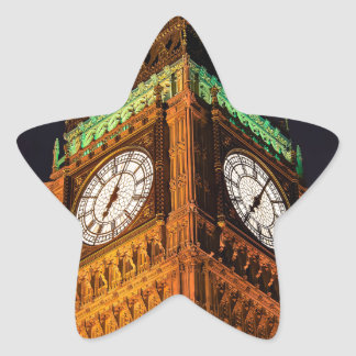 The Houses of Parliament clock tower, Westminster Star Sticker
