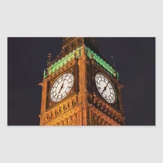 The Houses of Parliament clock tower, Westminster Stickers