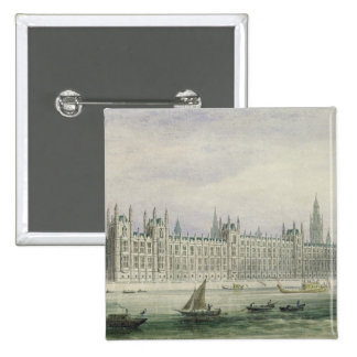 The Houses of Parliament (graphite, pen & ink & w/ 15 Cm Square Badge