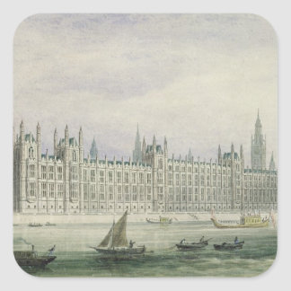 The Houses of Parliament (graphite, pen & ink & w/ Square Sticker