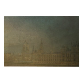 THE HOUSES OF PARLIAMENT LONDON WOOD WALL ART