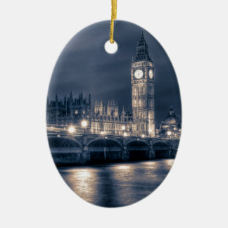 The Houses of Parliament,  Westminster London Christmas Ornament