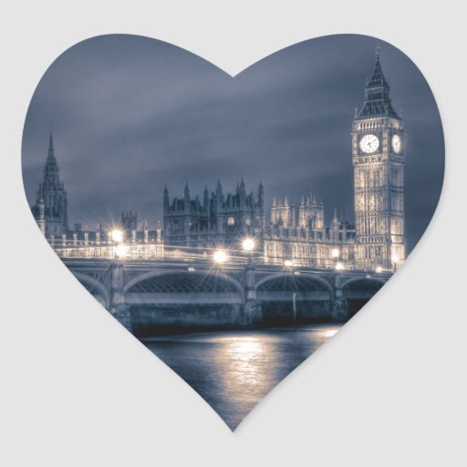 The Houses of Parliament,  Westminster London Heart Sticker