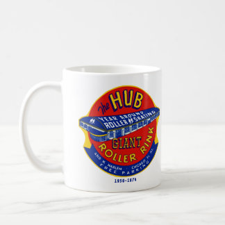 The Hub Roller Rink Chicago / Norridge Illinois Basic White Mug
