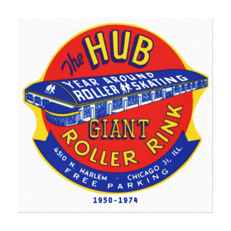 The Hub Roller Rink Chicago / Norridge Illinois Stretched Canvas Prints
