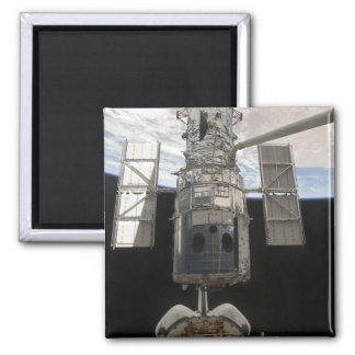 The Hubble Space Telescope Space Shuttle Atlant Square Magnet