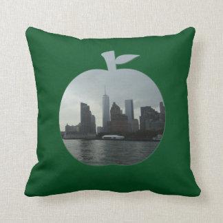 The Hudson River Big Apple Green Cushion