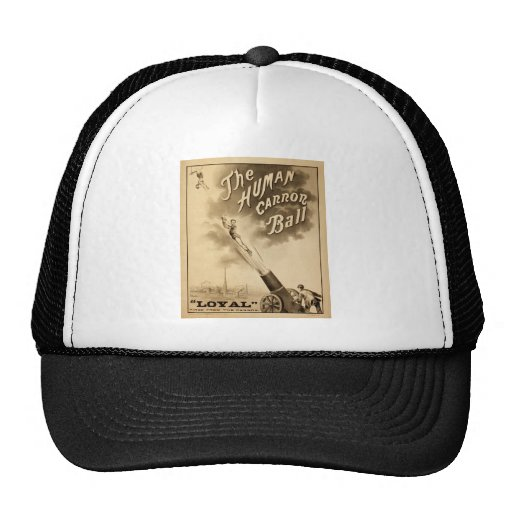 The Human Cannon Ball Vintage Circus Act Victorian Mesh Hat