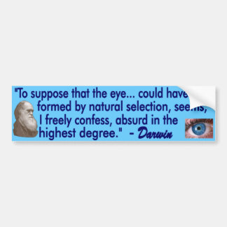 The Human Eye Bumper Sticker